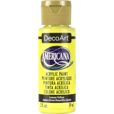 Americana Acrylic Deco Art Paint - Lemon Yellow
