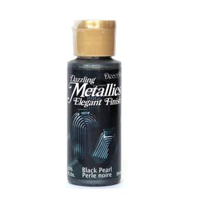 Americana Acrylic Metallic Paint - Black Pearl