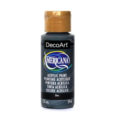 Americana Acrylic Metallic Paint - Zinc