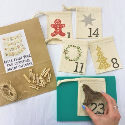 Block Print Your Own Advent Calendar Kit