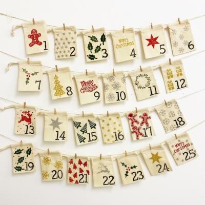Fabric Christmas Advent Calendar