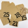 Recyclable Paper Advent Calendar to Block Print