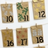 Block Printed Christmas Advent Calendar