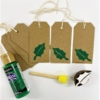 Block Printing Kit- Holly Leaf Christmas Gift Tags