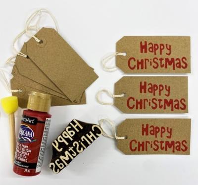 Block Printing Kit- Happy Christmas Gift Tags
