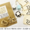 Silver Stars Advent Calendar Printing Kit