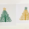 Block Printed Christmas Cards- Chatsworth Tree