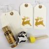 Printed Christmas Reindeer Gift Tags in Gold
