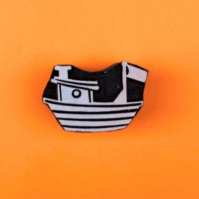 Indian Wooden Printing Block - Fishing Boat