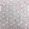Indian Wooden Printing Block - Floral Dotty Circle Sample
