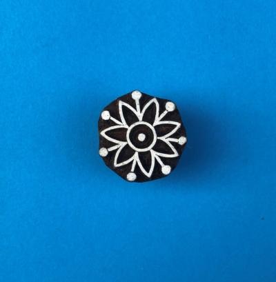 Indian Wooden Printing Block - Flower 5