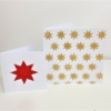 Hand Printed Solid Star Christmas Cards