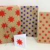 Block Printed Solid Star Repeat Wrapping Paper