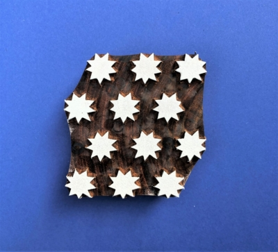 Indian Wooden Printing Block - Solid Starry Tile