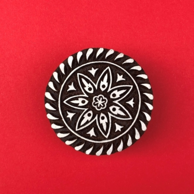 Indian Wooden Printing Block - Stylised Circle 1