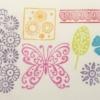 Indian Wooden Workshop Printing Set - Butterfly & Borders Sample