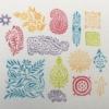 Indian Wooden Workshop Printing Set - Ethnic Patterns Sample