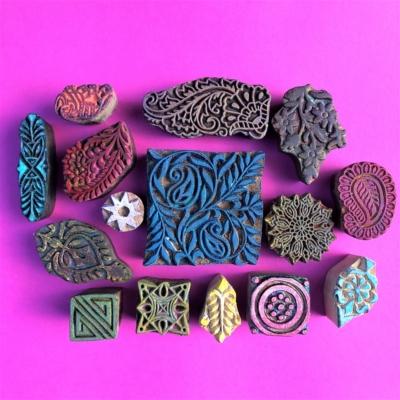 Indian Wooden Workshop Printing Set - Ethnic Patterns