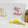 Let it Snow Card Printing Kit- Red and Gold