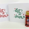 Let it Snow Card Printing Kit- Red and Green