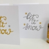 Let it Snow Card Printing Kit- Gold and Silver