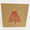 Merry Christmas Tree & Dot printed Christmas card