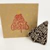Merry Christmas Tree- Block Printing Kit