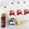 Printed Christmas Reindeer Gift Tags in Red