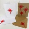 Block Printed Christmas Cards- Dotty Christmas Star