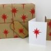 Hand Block Printed Christmas Stationery