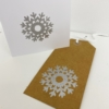 Block Printed Christmas Stationery- Silver Icy Snowflake