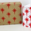 Block Printed Christmas Stationery- Red Nativity Star