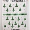 Block Printed Christmas Tea Towel