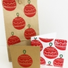 Hand Block Printed Christmas Stationery- Festive Christmas Decoration Design