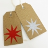 Block Printed Gift Tags- 9 Point Star