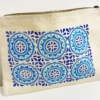 Moroccan Tile Block Printed Pouch