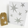 Block Printed Starry Christmas Stationery