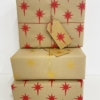 Hand Block Printed Christmas Wrapping Paper