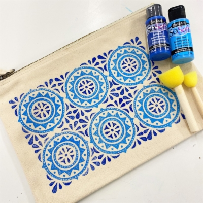 Block Printing Kit- Moroccan Tile Pouch
