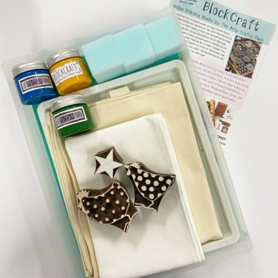 Complete Block Printing Kit- Chickens and Star