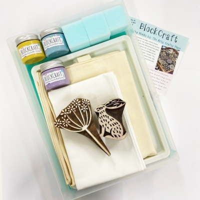 Complete Block Printing Kit- Sitting Hare and Cow Parsley