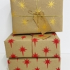 Hand Block Printed Christmas Stationery- Starburst Design