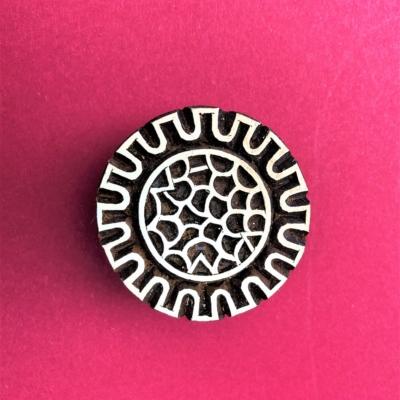 Indian Wooden Printing Block - Abstract Circle