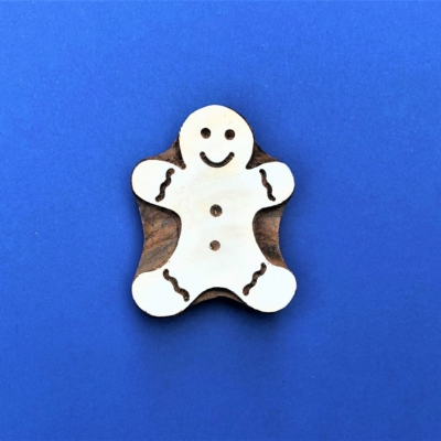 Indian Wooden Printing Block - Extra Large Ginger Bread Man