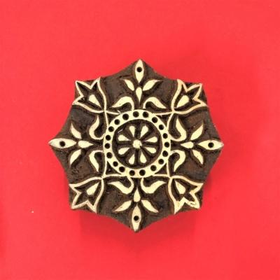 Indian Wooden Printing Blocks - Flake Snowflake