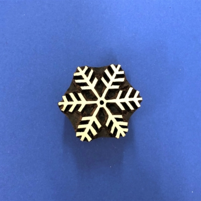 Indian Wooden Printing Block - Frosty Snowflake