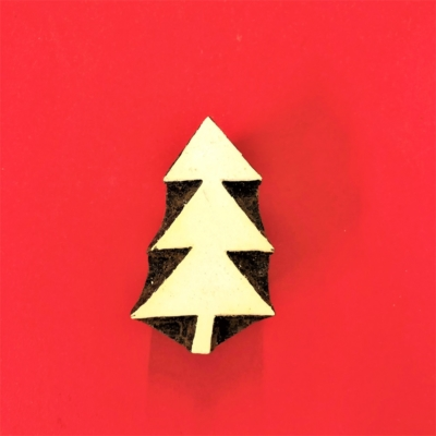 Indian Wooden Printing Blocks - Triangle Christmas Tree