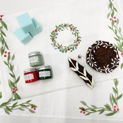 Festive Christmas Table Runner Printing Kit
