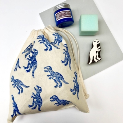Block Printing Kit- Blue Dinosaur Kit