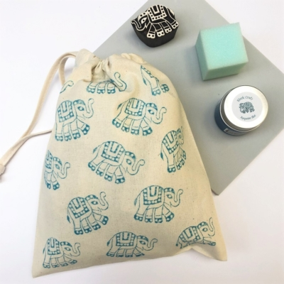 Block Printing Kit- Indian Elephant Bag